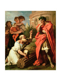 Tarquin the Elder Consulting Attus Nevius the Augur Giclee Print by Sebastiano Ricci