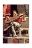 Minstrel Angel Playing a Lute, Detail from the Presentation of Jesus in the Temple, 1510 (Detail) Giclee Print by Vittore Carpaccio