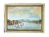 'Sirius' and Convoy, the Supply and Agent's Division Going into Botany Bay, 1788 Giclee Print by William Bradley