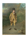 Portrait of a Gardener from Bramham Park, Yorkshire, C.1822 Giclee Print by George Garrard