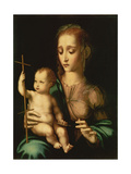 Madonna and Child with a Distaff, 1570s Giclee Print by Luis De Morales