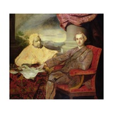 Portrait of Lord Rockingham (1730-82) and Edmund Burke (1729-97) C.1766 Giclee Print by Sir Joshua Reynolds