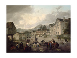 The Market Place at Ambleside, 1817 Giclee Print by Julius Caesar Ibbetson