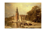 View of the Kalk Market, Amsterdam Giclee Print by Johannes Karel Christian Klinkenberg