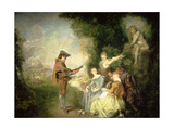 The Love Lesson Giclee Print by Jean Antoine Watteau