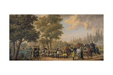 King Gustav III of Sweden (1746-92) and a Soldier, Episode from the Russian War, 1789 Giclee Print by Pehr Hillestrom