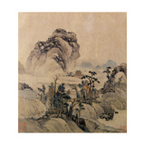 Mountain View Giclee Print by Ming Dynasty Chinese School