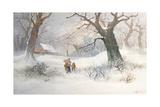 Snow Scene Giclee Print by Adolf Kaufmann