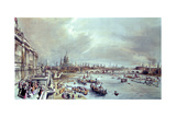 Somerset House, St. Paul's and Blackfriar's Bridge from Waterloo Bridge Giclee Print by William Parrott