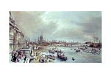 Somerset House, St. Paul's and Blackfriar's Bridge from Waterloo Bridge Giclee Print by William Parrott
