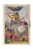 T.942 Title Page of the Atlas by Frederick De Wit with an Allegory of Geography, C.1688 Giclee Print by Frederick de Wit