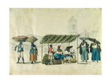 Itinerant Traders Carrying their Wares on their Heads Giclee Print by Henry Chamberlain