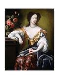 Portrait of Mary of Modena (1658-1718), C.1680 Giclée-Druck von Simon Peeterz Verelst