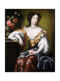 Portrait of Mary of Modena (1658-1718), C.1680 Giclee Print by Simon Peeterz Verelst