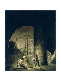 Gallery in Falun Copper Mine Giclee Print by Pehr Hillestrom