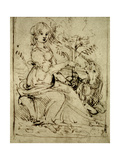 Lady with a Unicorn, C.1480 Giclee Print by  Leonardo da Vinci