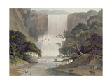 Cascade on Sneuwberg, Plate 25 from 'African Scenery and Animals', Engraved by the Artist, 1805 Giclee Print by Samuel Daniell