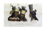 Ritual Headdresses Worn by Natives of California, from 'Voyage Pittoresque Autour Du Monde',… Giclee Print by Ludwig Choris