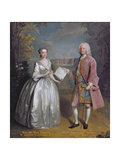 Portrait of Henry 7th Viscount Irwin and His Wife Anne Giclee Print by Philippe Mercier