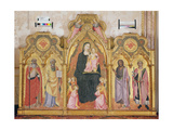 Virgin and Child with Ss. Anthony of Padua, Peter, Catherine and John the Baptist Giclee Print by Agnolo Gaddi