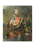 Portrait of Edward, Prince of Wales (1330-76), 'The Black Prince' Giclee Print by Benjamin Burnell