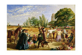 A Harvest Scene in Norfolk: Sketch for 'Hello Largesse', 1861 Giclee Print by William Maw Egley