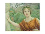 "The Nymph ""Now Again She Flies Aloof"" Giclee Print by Thomas Cooper Gotch"
