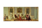 Gustavian Style Interior with Card-Players Giclee Print by Pehr Hillestrom