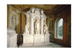 Monument in the Chandos Mausoleum Giclee Print by Grinling Gibbons