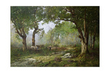 The Forest of Fontainebleau, 1890 Giclee Print by Leon Richet