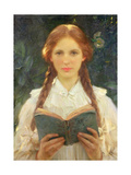 Girl with Pigtails Giclee Print by Sir Samuel Henry William Llewelyn
