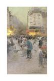 A Paris Street Scene Giclee Print by Luigi Loir