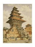 T622 the Temple of Devee Bhagwari, Bhatgaan, Braktapur, Built 1703, 1852-60 Giclee Print by Dr. Henry Ambrose Oldfield
