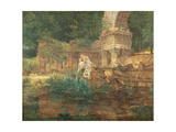 The Roman Ruins in the Gardens of Schonbrunn Palace Giclee Print by Ferdinand Georg Waldmuller