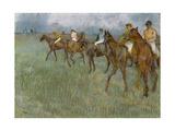 Jockeys in the Rain, C.1886 Giclee Print by Edgar Degas