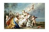 The Rape of Europa Giclée-tryk af Jacopo Amigoni