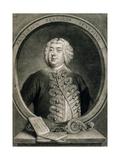 Francesco Bernardi Senesino, Engraved by Alexander Van Haecken (1701-58), 1735 Giclee Print by Thomas Hudson