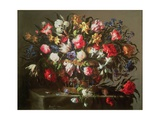 Basket with Flowers, 1671 Giclee Print by Juan De Arellano
