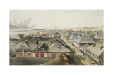 City of Kingston from the Commercial Rooms, Looking Towards the West, Plate 20 from 'West Indian… Giclee Print by Joseph Bartholomew Kidd