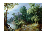 Landscape with Sportsmen and Dogs Giclee Print by Paul Brill Or Bril