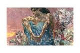 Seated Demon, 1890 Giclée-Druck von Mikhail Aleksandrovich Vrubel