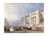 Regent Street, London, Looking North, with Dickins and Jones on the Right, and the Hanover Chapel… Giclee Print by George Sidney Shepherd