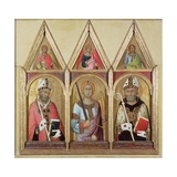 St. Geminianus, St. Michael and St. Augustine, C.1319 (Detail) Giclee Print by Simone Martini