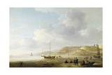 The Coast Near Scheveningen with Fishing Pinks on the Shore Giclee Print by Charles Brooking