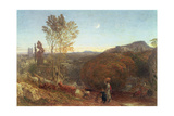 Going Home at Curfew Time Giclee Print by Samuel Palmer