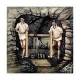 Santa Anna Mine - Raising Ore, Colombia Giclee Print by Joseph Brown