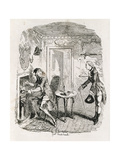 Captain Bath Making Posset, from 'Amelia', Engraved by the Artist, Illustration from 'The Works… Giclee Print by George Cruikshank