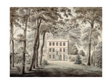 A Gardener Working in the Grounds of an Elegant Country House, 1788 Giclee Print by Joseph Charles Barrow