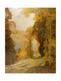 Lake Bourget from Mont Revard Giclee Print by Sir Alfred East