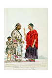 Buddhist Lama and Servants from Lhassa, Tibet, 1852-60 Giclee Print by Dr. Henry Ambrose Oldfield